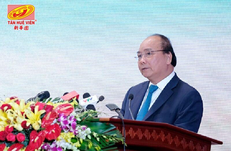 Thủ tướng Nguyễn Xuân Phúc, phát biểu tại Hội nghị (ảnh VGP/Quang Hiếu).